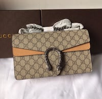 brown and black Gucci monogram leather handbag Burnside Heights, 3023