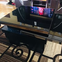 Rotating Glass Panel Table  Los Angeles