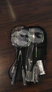 badminton set with net and birdies