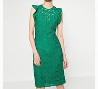 NWT ZARA Green  Lace Dress Edmonton, T5Z 0J5