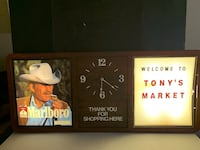 Large MARLBORO Advertising Display  Clock Nashville, 37013