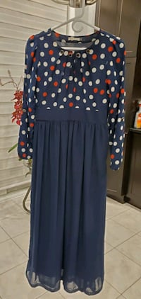 Modest long navy dress Toronto, M2N 4H5