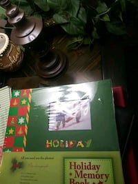 Holiday memory book scrap book 12× 12 20 pre printed pages