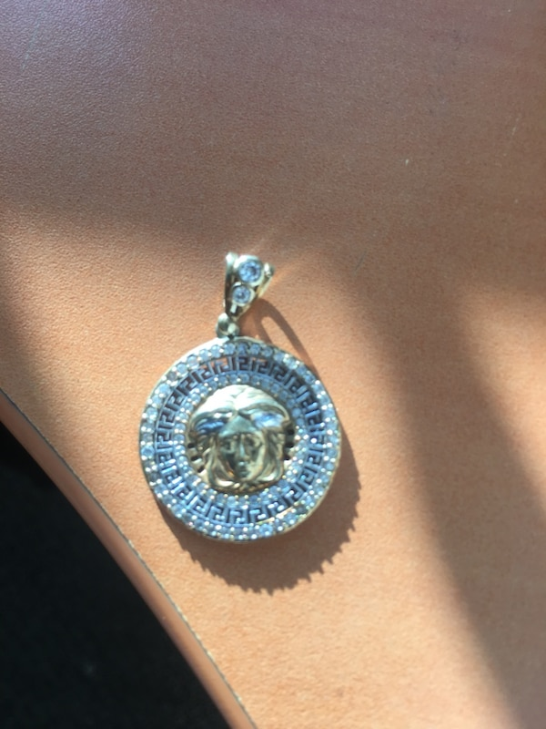 10k Gold chain and Versace pendant 4