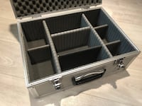 """Aluminum case with  adjustable divider .18"""" L x 13""""W x 8"""" H. pick up in Richmond hill area. Richmond Hill"""