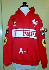 Hudson Outerwear F rari 1992 Red Hoodie, Size L Commack