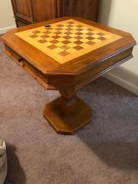 Solid Oak Game Table