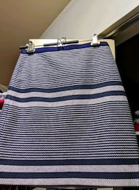 JCrew Size 0 Blue Grey and White Skirt  Vancouver, V6H 1P2