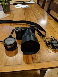 Sony a6000 digital camera with fe 85mm f1.8 lens ARLINGTON