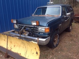 Blue single cab pickup truck