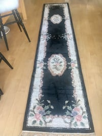 black and white floral runner rug San Francisco, 94107
