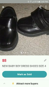 Brand new size 4 baby boy dress shoes Windham