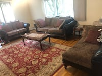 Brown and black living room with 3 free coffee tables Framingham, 01701