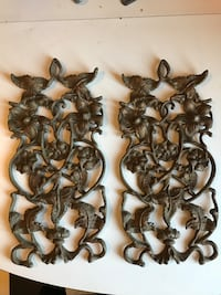 Two  floral steel wall decorations