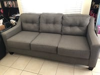 Charcoal sofa set (pillows included but not pictured) Buena Park, 90620