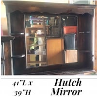 Solid wood hutch mirror free standing McHenry, 60050