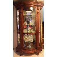 Brown wooden framed glass display China cabinet Hialeah, 33015