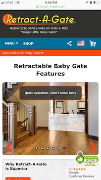 """Retractable gate for kids or pets (2 wideness a 52"""" and a 72"""") Charlotte, 28269"""