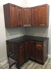 Wood cabinets with granite top Dix Hills, 11746