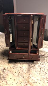 Black and brown wooden jewelry cabinet Newton, 03858