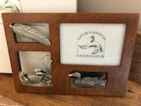 Duck pewter wood picture frame null, K0A 3H0