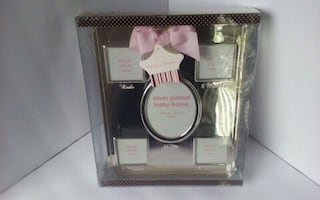 Nursery Rhyme Silver Plated Baby Picture Frame