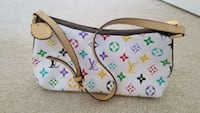 white and multicolored Louis Vuitton Monogram leather tote bag Mississauga, L5M 0P5