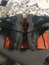 Worx steel toe boots ! Regular 150. Have recite, have box. Shoes have replacement warranty Incase of malfunction. Not even 2 months old ! Work only 6 times ! There not even broke in ! Never even walked 2 miles in them. Get a steal Washington, 15301