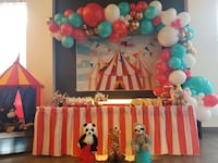 Balloon Garland Circus Themed Backdrop  Carnival Signs Table Skirt Toronto, M3C 0C6
