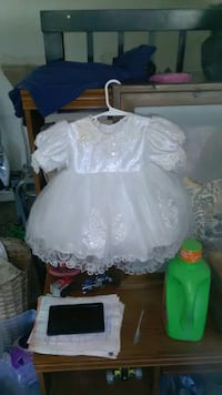 toddler's white lace tulle dress