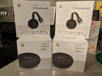 Two Google Home Minis & 2 Chromecasts New York, 10166