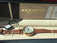 WATCH, RETAIL 625$, Purchased at 350$, comes equipped with box & card of authenticity. Link  - http://www.akribosxxiv.com/our-products-collection-women-s-quartz-watch-ak630.html Manassas