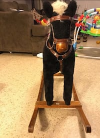 toddler's brown and black rocking horse Lanham, 20706