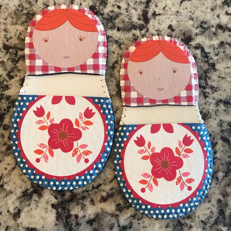 Matryoshka Russian Doll Mini-Grip Pot Holders