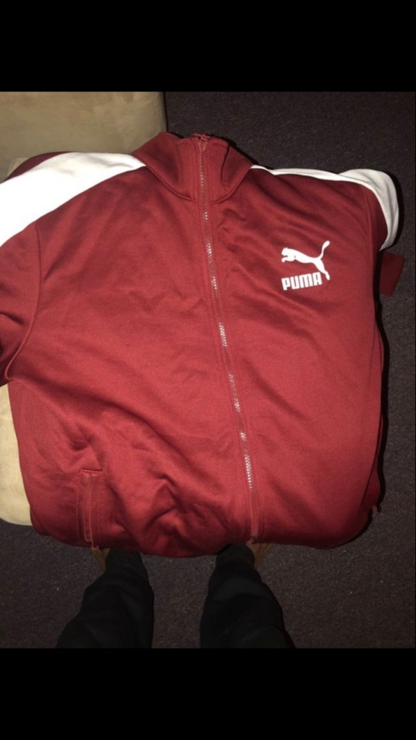 0bee091f9 Used red and white Puma zip-up jacket for sale in New York - letgo