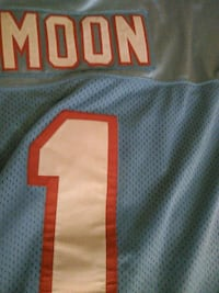 Warren Moon Oilers Rare Authentic Jersey Washington