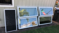 Two white framed glass window Pearl City, 96782