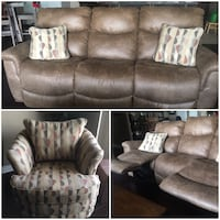 brown leather 3-seat sofa London, N6G