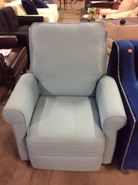 Light Blue Reclining Accent Chair