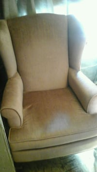 Matching wing back chairs rose colored and good co Georgina