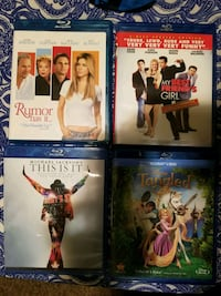 four assorted Blu-ray movie cases Spokane Valley, 99037