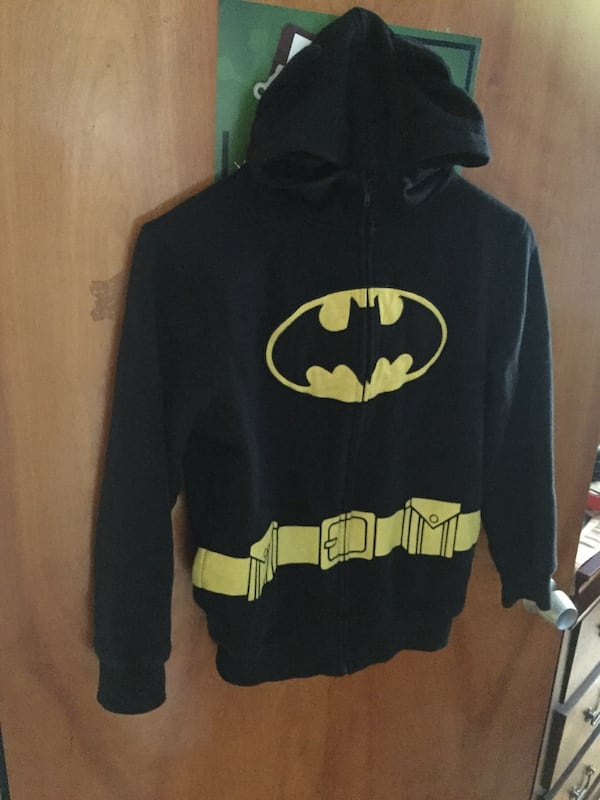 black and yellow Batman pullover hoodie f1eb818a-3c57-4ccd-b5b3-d35e693994d4