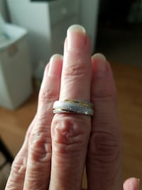 Frosted stainless steel ring size 6 Salt Lake City, 84120