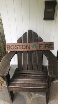 Hand painted Boston fire sign  Hanover, 02339