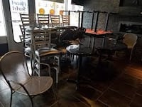 Resturant 2x2 square black tables Bayonne, 07002
