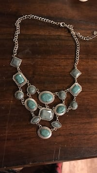 silver and green beaded necklace Statesboro, 30458