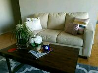 brown leather 3-seat sofa Toronto, M9A