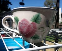 Hand painted ceramic cup Bakersfield