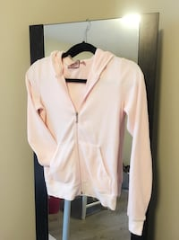 Juicy Couture Hoodie in Baby Pink with Gold Sparkles Richmond