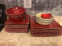 red and white ceramic dinnerware set Lovettsville, 20180